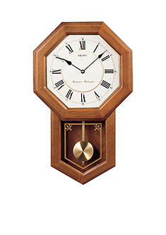 Seiko Oak Schoolhouse Wall Clock