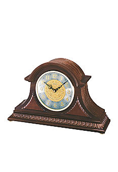 Seiko Dark Brown Solid Oak Mantel Clock