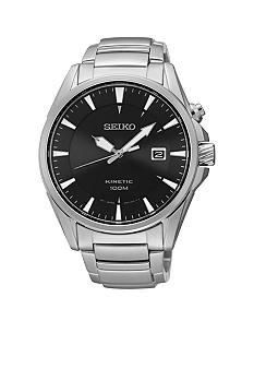 Seiko Men's 100 Meter Stainless Steel Kinetic Sports Watch