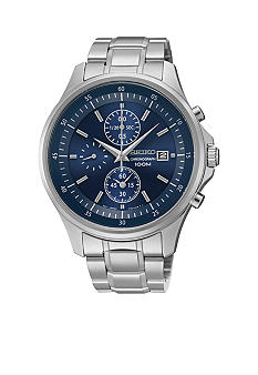 Seiko Men's 100 Meter Stainless Steel Special Value Chronograph Watch