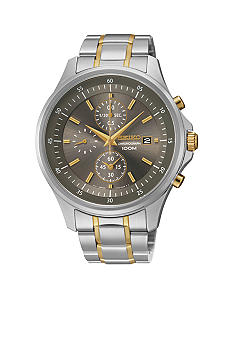 Seiko Men's 100 Meter Two Tone Special Value Chronograph Watch