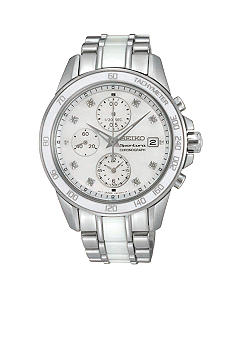 Seiko Women's 100 Meter Sportura Chronograph with Ceramic Case and Bracelet