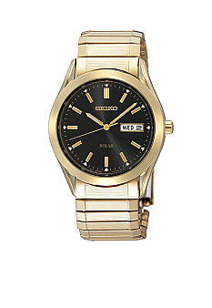 Seiko Men's Solar 30 Meter Gold Watch
