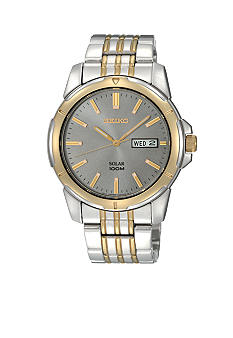 Seiko Men's 100 Meter Two Tone Functional Solar Watch