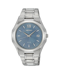 Seiko Men's 50 Meter Stainless Steel Solar Dress Watch