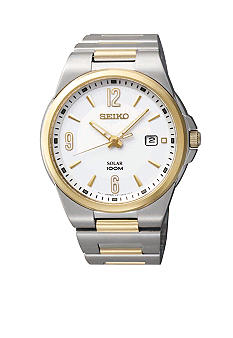 Seiko Men's 100 Meter Two Tone Solar Sport Dress Watch
