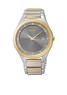 Seiko Men's 50 Meter Two Tone Solar Dress Watch