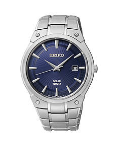Seiko Men's 100 Meter Stainless Steel Solar Dress Watch