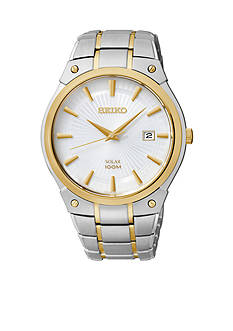 Seiko Men's 100 Meter Two Tone Solar Dress Watch