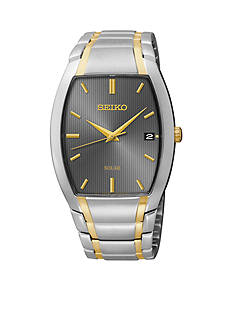 Seiko Men's 50 Meter Two-Tone Solar Dress Watch