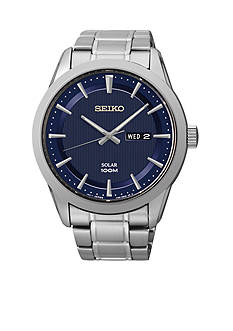 Seiko Men's Stainless Steel Sport Dress Solar Watch