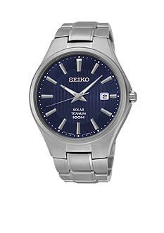 Seiko Silver-Tone Titanium Solar Watch