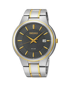 Seiko Men's Two-Tone Solar Calendar Watch