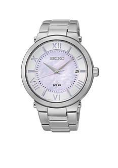 Seiko Women's Stainless Steel Silver-Tone Solar Watch