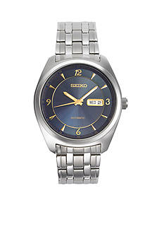 Seiko Men's Recraft Silver-Tone with Blue Dial Watch