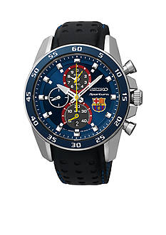 Seiko Mens 100 Meter Sportura FCBarcelona Chronograph Watch