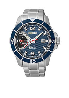 Seiko Men's Stainless Steel and Ceramic Kinetic Direct Drive Watch