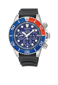 Seiko Men's 200 Meter Stainless Steel Solar Diver Chronograph Watch