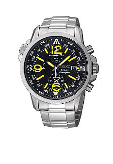 Seiko Men's 100 Meter Solar Adventure Alarm Watch