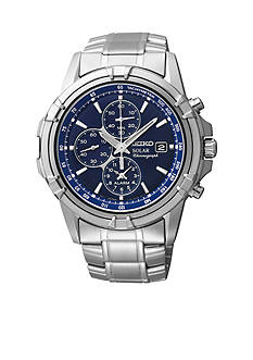 Seiko Men's 100 Meter Stainless Steel Solar Dress Sport Chronograph