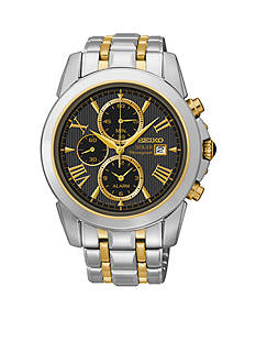 Seiko Men's 100 Meter Two Tone Le Grand Sport Solar Alarm Chronograph Watch