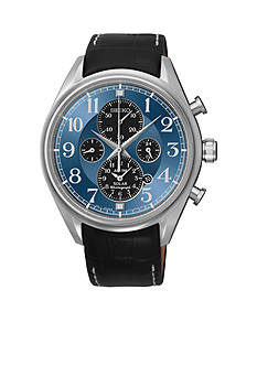 Seiko Men's 100 Meter Dress Solar Alarm Chronograph Watch