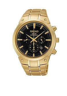 Seiko Men's Gold-Tone Solar Chronograph