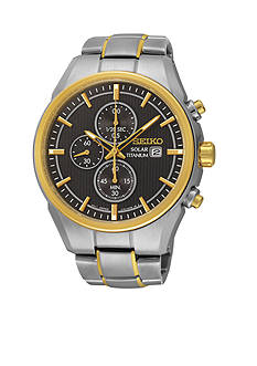 Seiko Men's Titanium Solar Chronograph Watch