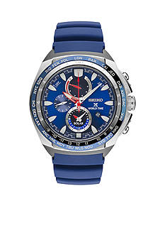 Seiko Men's Prospex World Time Solar Chronograph Watch