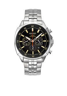 Seiko Men's Recraft Solar Chronograph Gray Dial Watch
