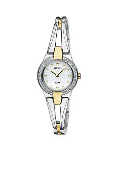 Seiko Ladies Solar Watch in Two Tone with Swarovski Crystals