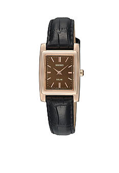 Seiko Ladies 30 Meter Rose Gold Solar Dress Watch