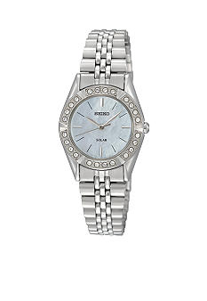 Seiko Ladies 30 Meter Stainless Steel Solar Dress Watch