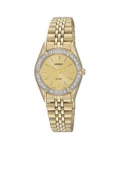 Seiko Ladies 30 Meter Gold Solar Dress Watch