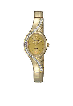 Seiko Ladies 30 Meter Gold Modern Solar Watch