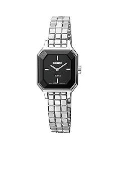 Seiko Ladies 30 Meter Stainless Steel Solar Modern Dress Watch