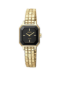 Ladies 30 Meter Gold Solar Modern Dress Watch