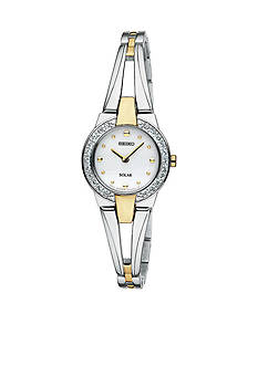 Seiko Women's Two Tone Solar Bangle Watch