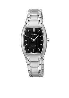 Seiko Women's Silver-Tone Solar Bracelet Watch