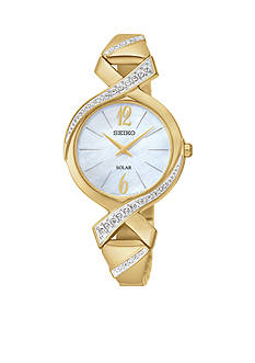 Seiko Women's Gold-Tone Solar Crystal Watch