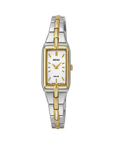 Seiko Two-Tone White Dial Solar Dress Watch