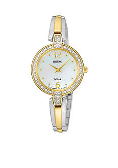 Seiko Women's Solar Crystal Bezel Watch