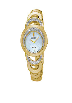 Seiko Women's Solar Gold-Tone Watch