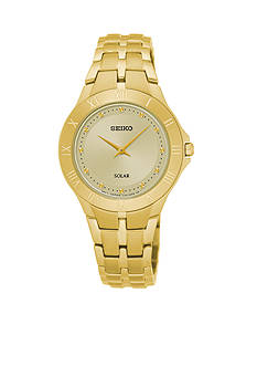 Seiko Women's Recraft Solar Gold-Tone Watch