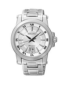 Seiko Men's 100 Meter Stainless Steel Big Date Premier Watch