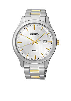 Seiko Men's Stainless Steel Two Tone Dress Watch