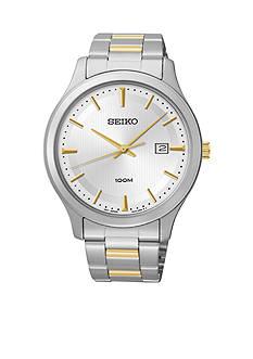 Seiko Men's Stainless Steel Two Tone Dress Watch