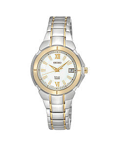 Seiko ladies 100M Two Tone Watch