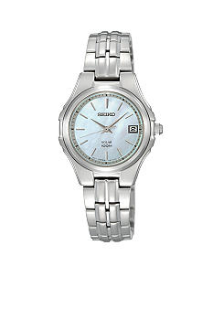Seiko Ladies 100 Meter Stainless Steel Solar Dress Watch