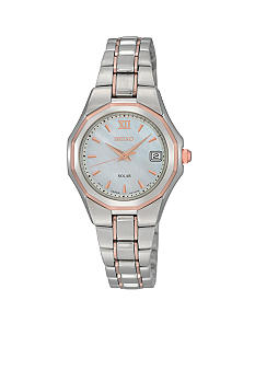 Seiko Ladies 50 Meter Two Tone Solar Dress Watch